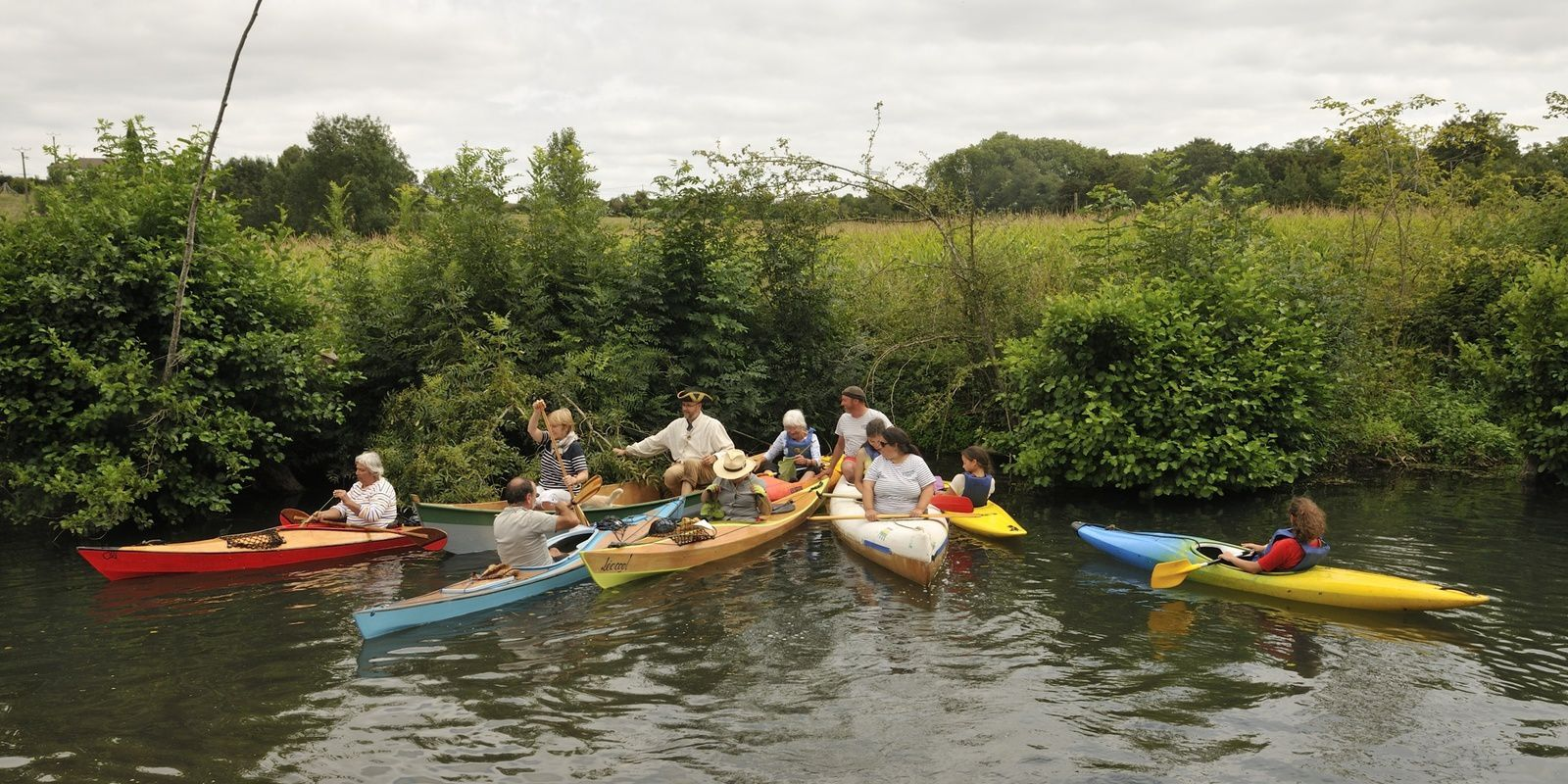 la Sèvre Niortaise, en kayak et canoë le 16 août