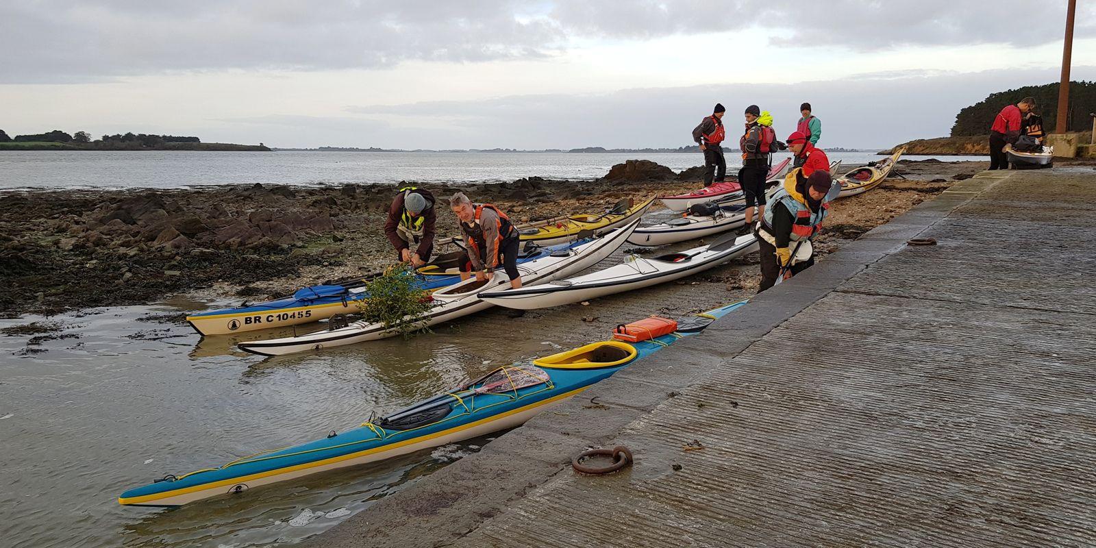 rando kayak hivernale à Er Lannic, le 11 janvier 2020