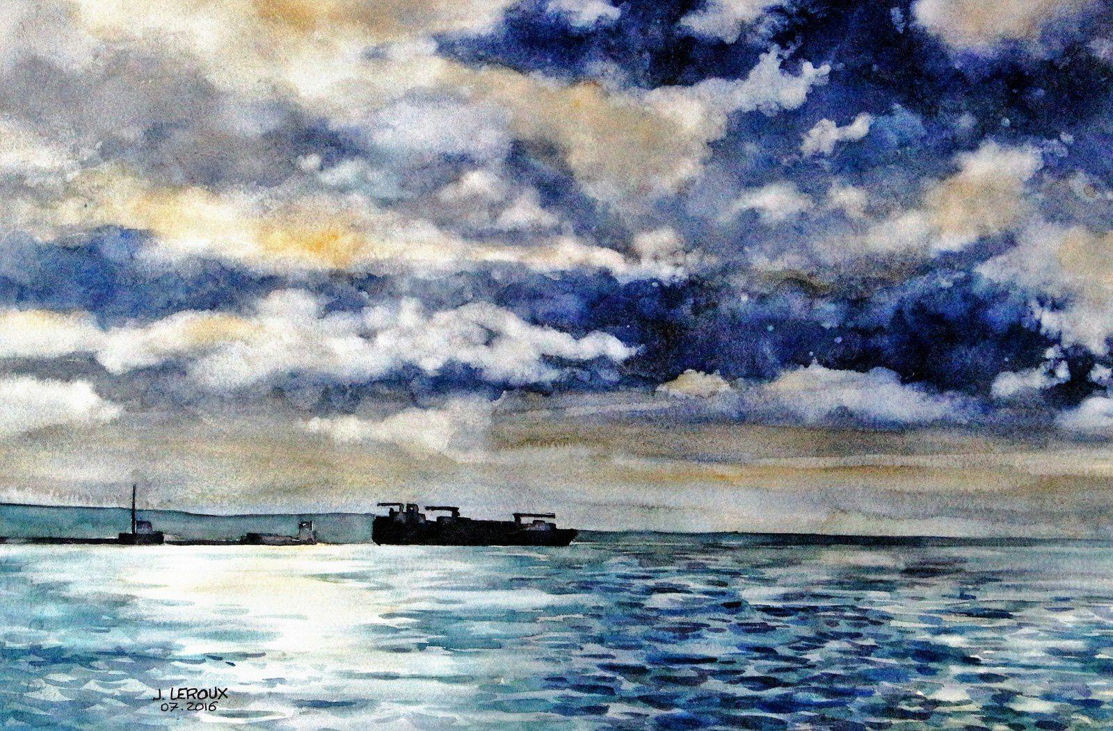 """Sortie du port du Havre pour le thème """"Ciels du Havre"""""""