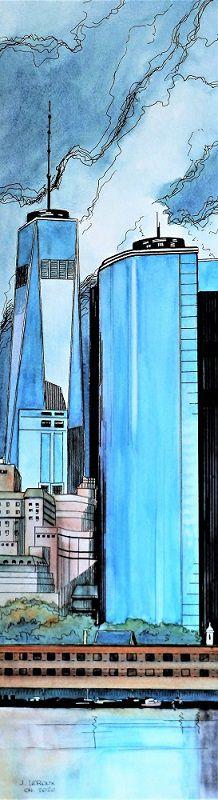 Trade Center - 22 x 82 cm  et   Reflets - 37 x 71 cm