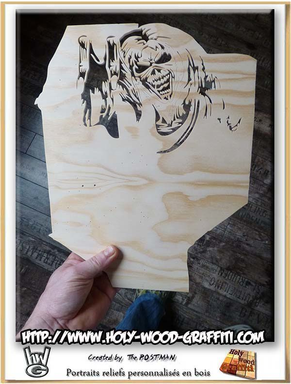 Iron Maiden - Eddie the 'ead - The number of the beast - fan art 80's