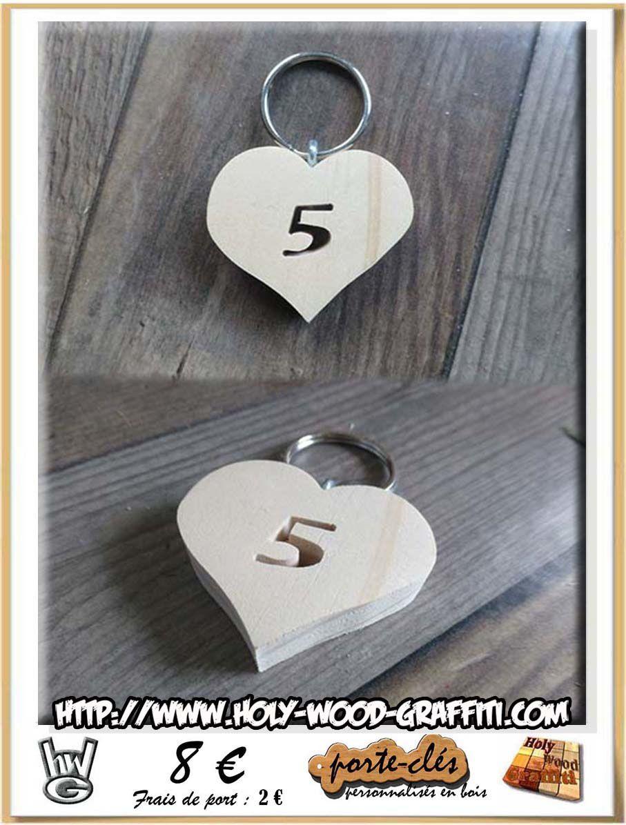Un coeur avec le chiffre 5 pour symboliser votre anniversaire de mariage