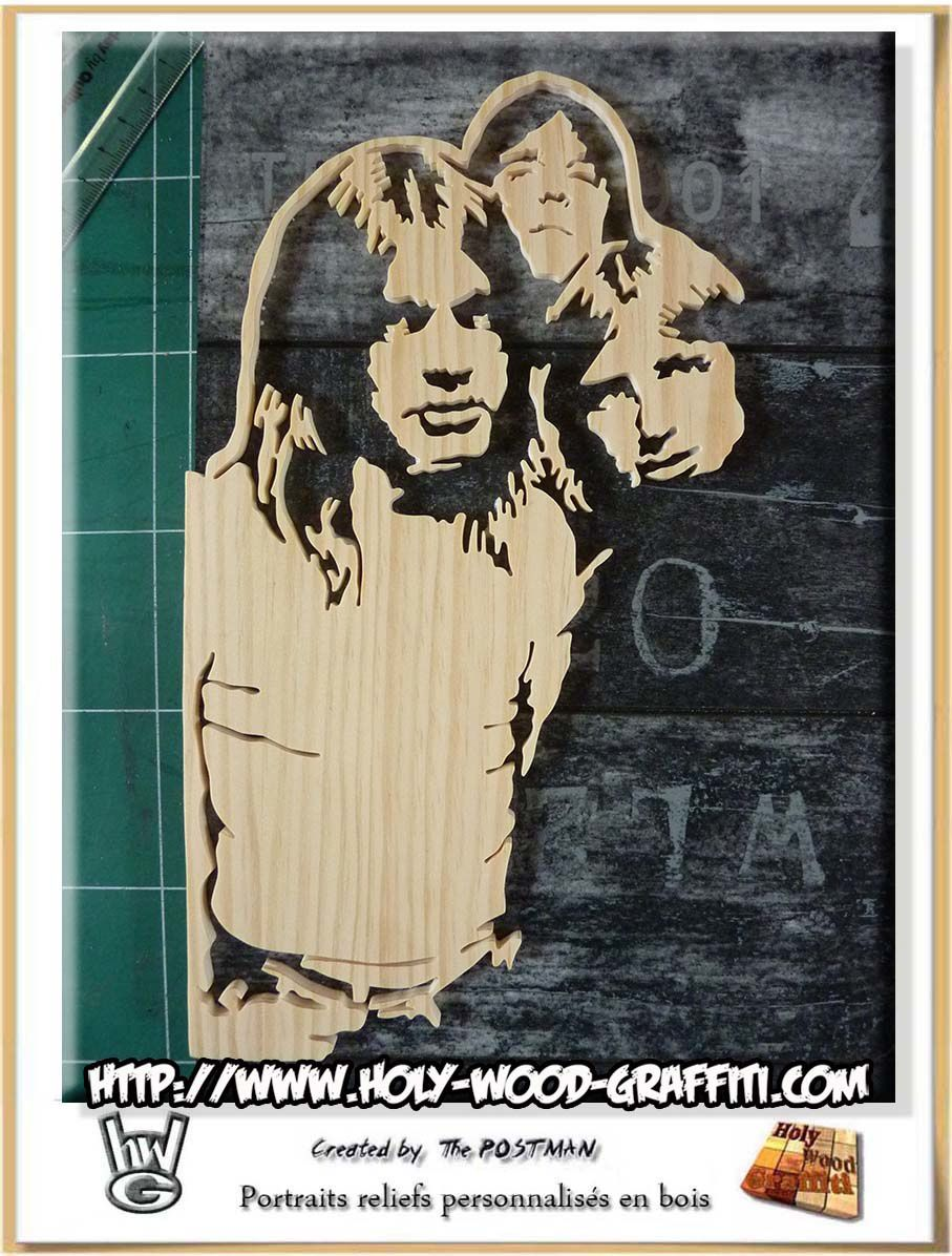 AC/DC : Highway to hell - drawing - portrait