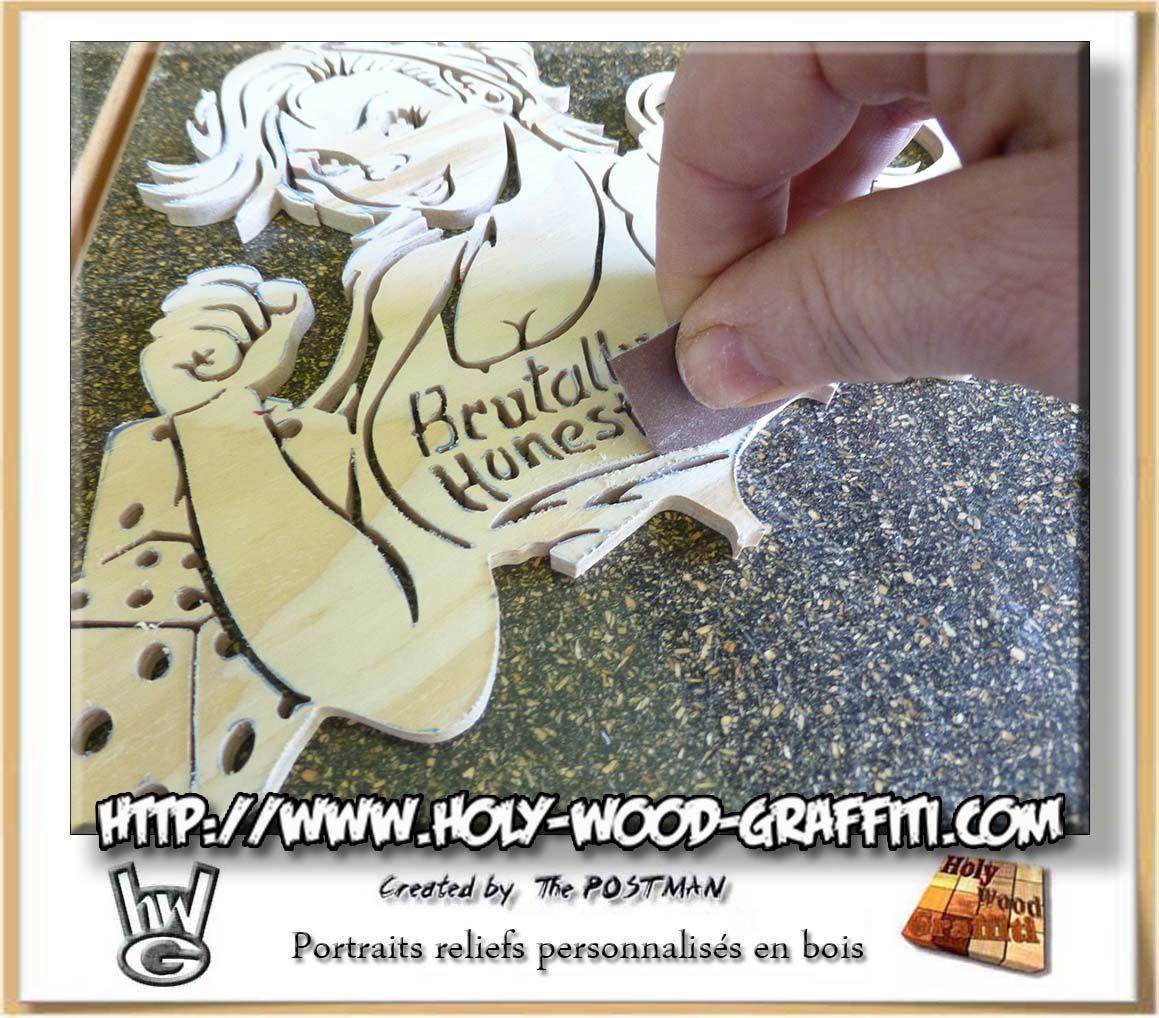 opération ponçage du bois / Wood's sanding operation