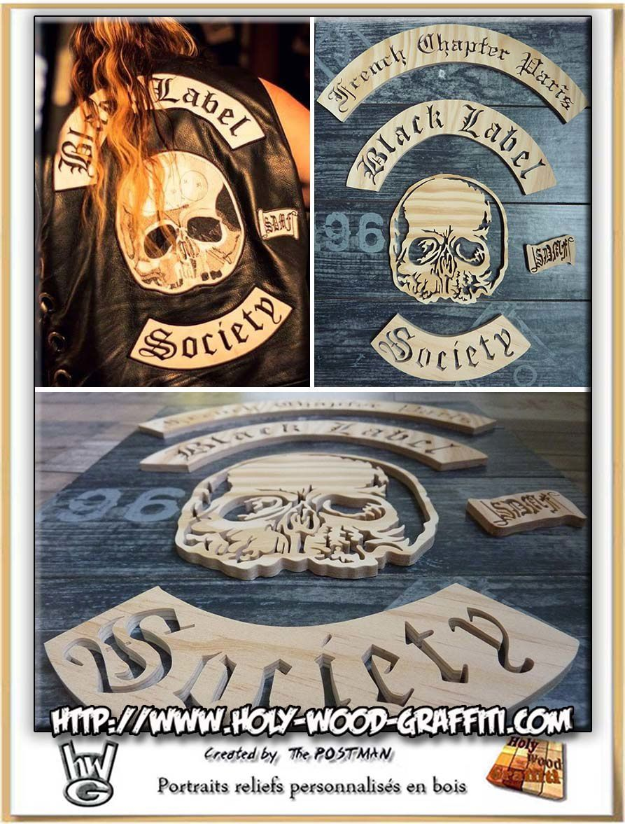 Logo du groupe Black Label Society + french chapter Paris