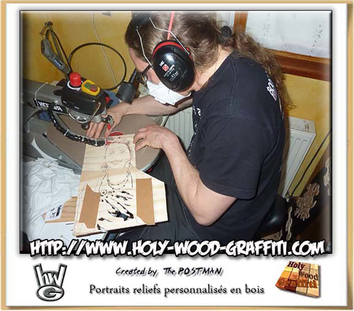 Holy Wood Graffiti en plein travail
