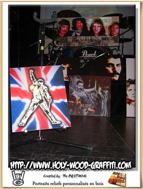Mon tableau en expo l'hommage à Freddie Mercury