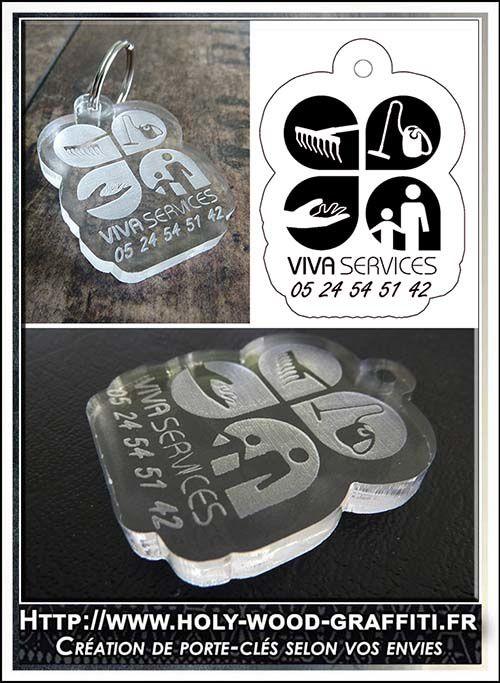 En haut à droite, le dessin du porte-clés que j'ai créé à partir du logo de la société