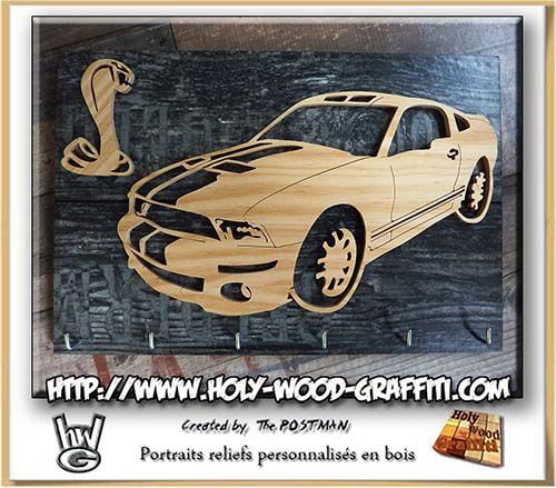 Porte-clés mural Ford Mustang GT500