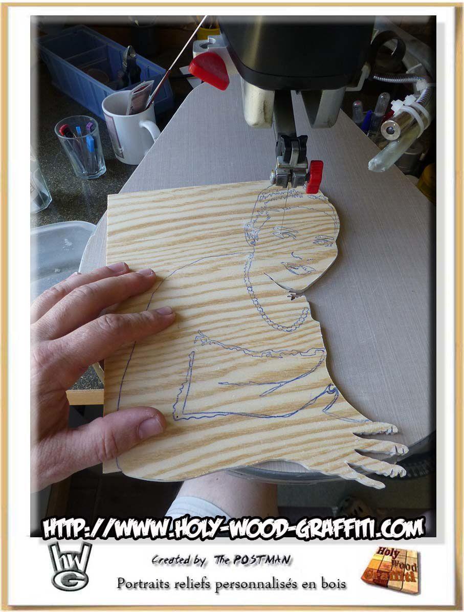 Réalisation des portraits en bois