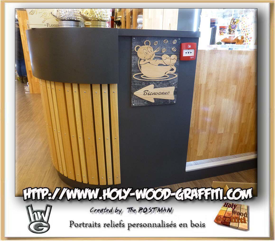 Plaque signalétique en bois pour le coin des cadeaux