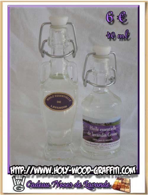 Photo 2 : Amphores ou bonbonnes d'huiles essentielles de lavande de 40 ml
