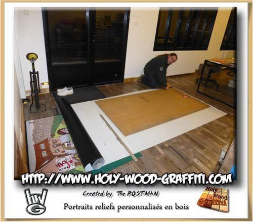 Let's go to make bottom of this wood art cut