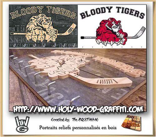 porte-clés mural des Bloody Tigers
