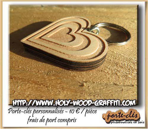 Ensemble de 5 coeurs imbriqués pour symboliser les noces de bois ( 5 ans de mariage )