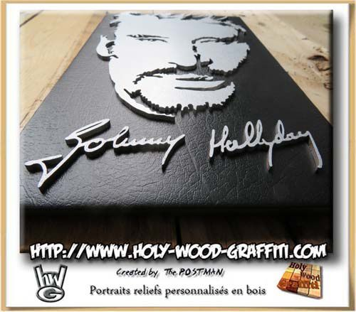 Autographe de Johnny Hallyday