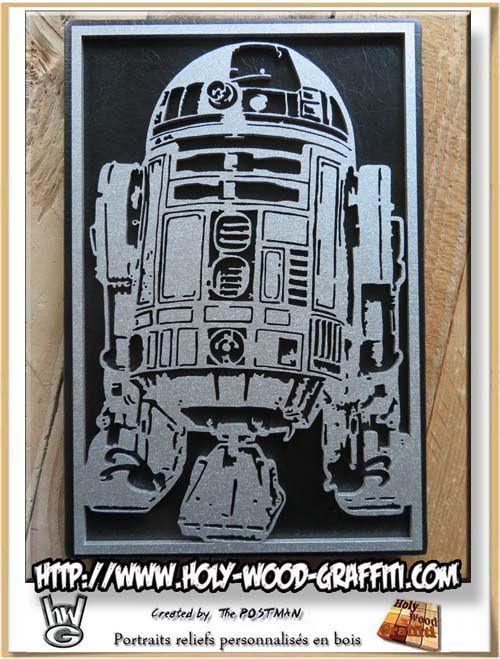 R2-D2  encadré par Holy Wood Graffiti