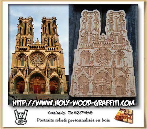 Vue de face de la cathédrale de Laon