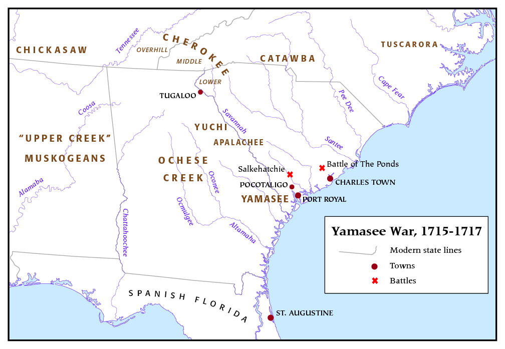 guerre des yamasee - Par I, Pfly, CC BY-SA 3.0, https://commons.wikimedia.org/w/index.php?curid=2323129