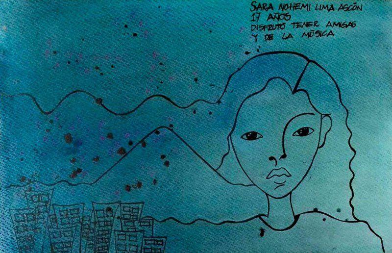 37. Sara Nohemi Lima Ascón 17 años Ilustracion: Quimy de León — Guatemala