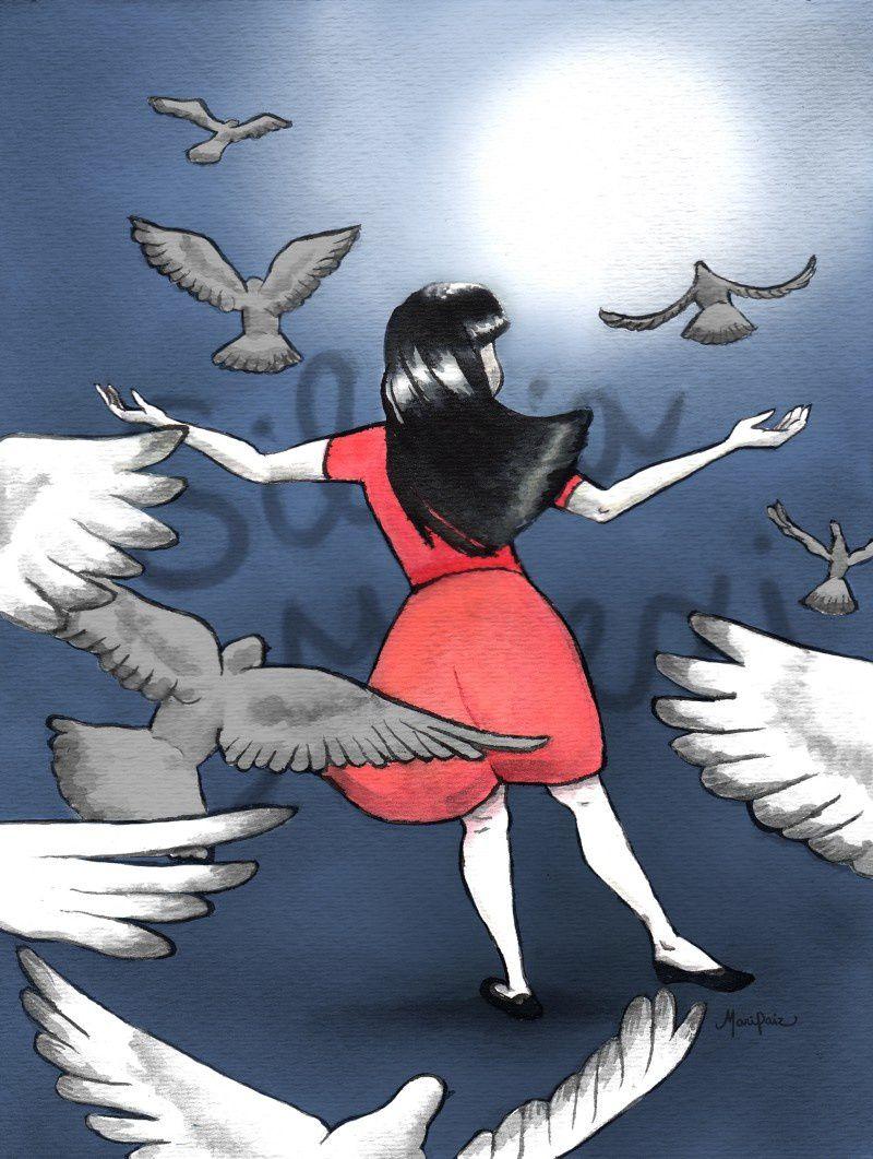 39. Silvia Milexi Rivera Sánchez 17 años Ilustración: Maria Andrée Paiz- Guatemala