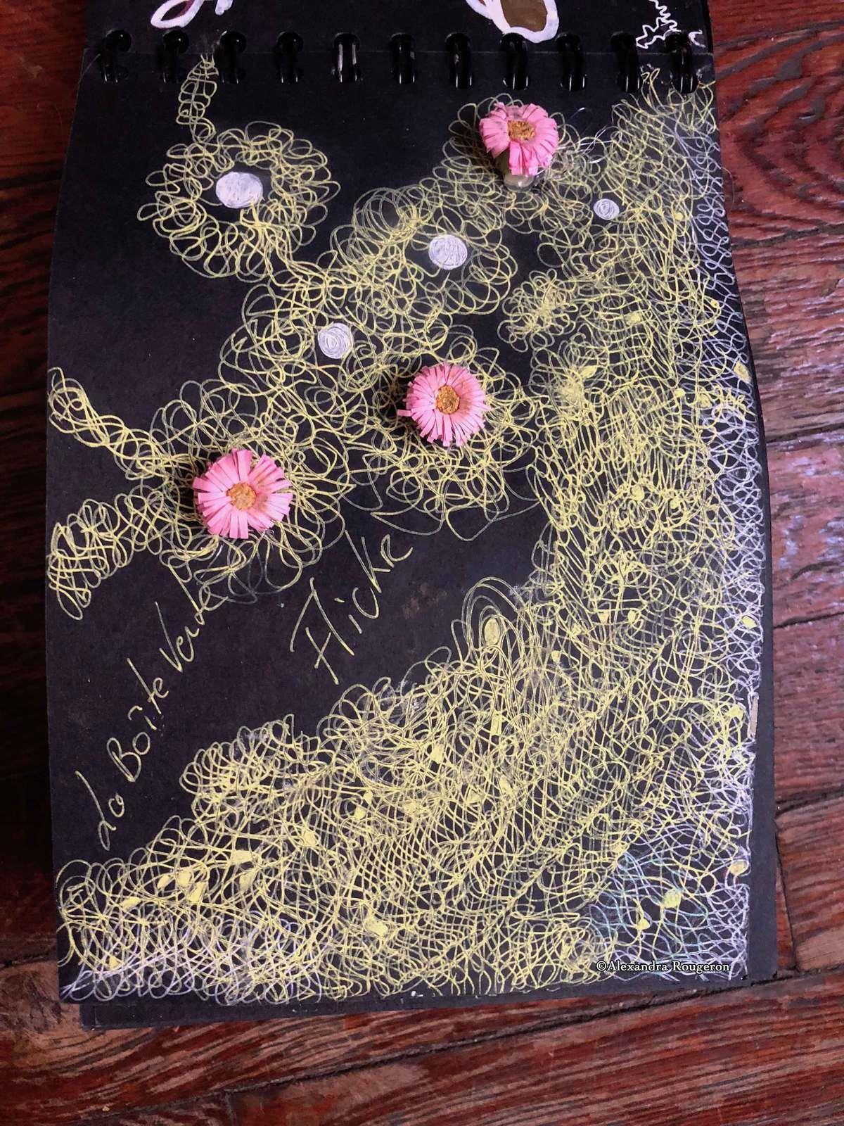 Carnet Noir   Plumes & fleurs