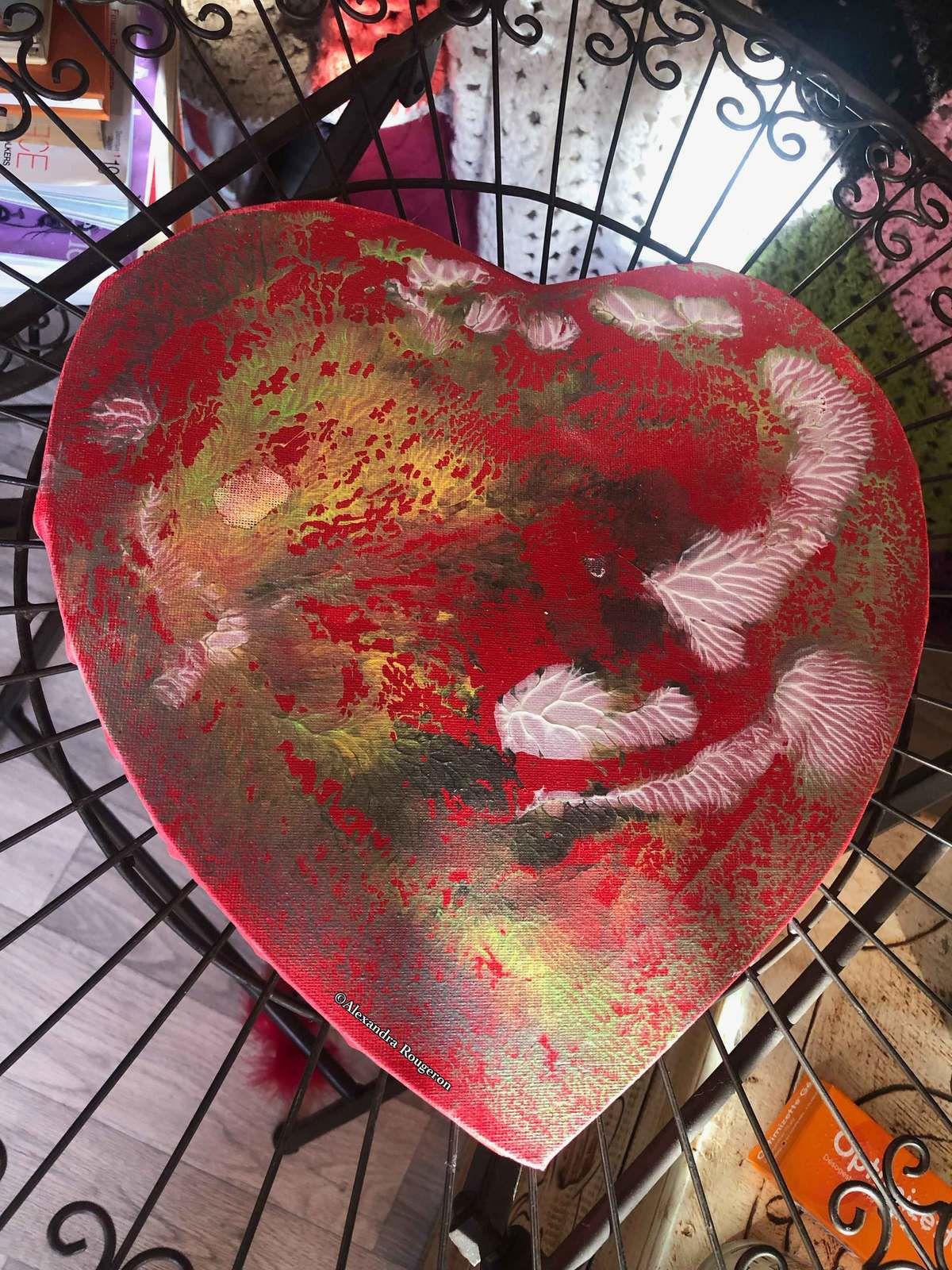 Cœur rouge corail