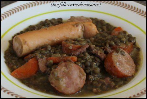 Lentilles aux saucisses fum es - Cuisiner des saucisses fumees ...