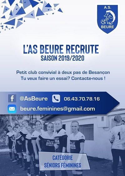 AS Beure ... recrute ....