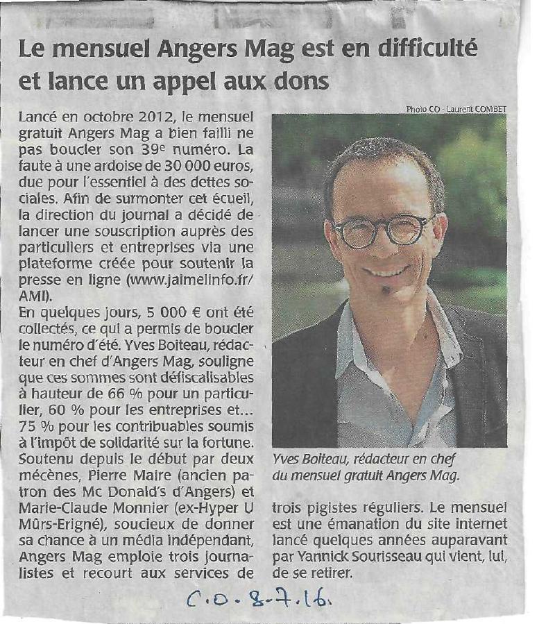 Pluralité de la presse : Angers Mag a besoin de vous