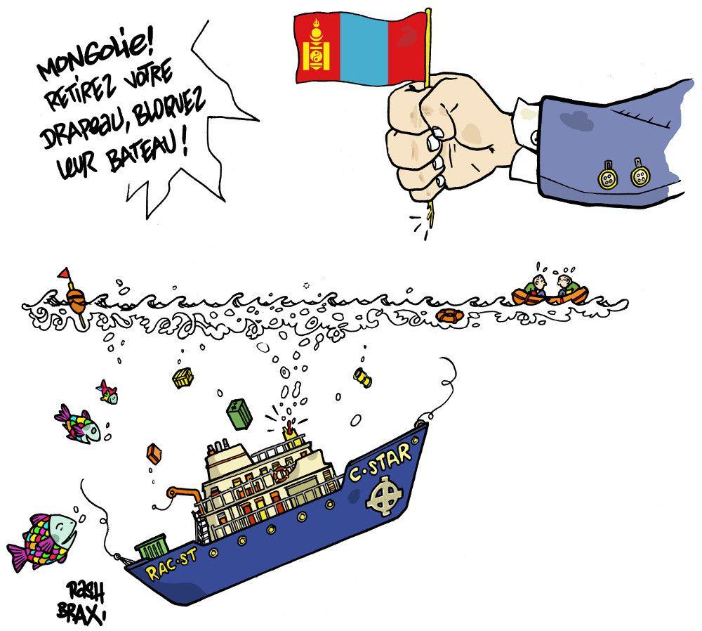 C-Star : la FIDH demande à la Mongolie de retirer son pavillon de complaisance au bateau raciste.