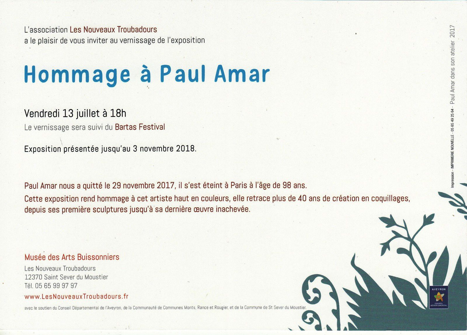 Exposition au Musée des Arts Buissonniers