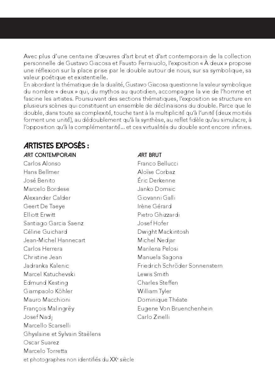 """Exposition """"À Deux"""" Aix en Provence"""
