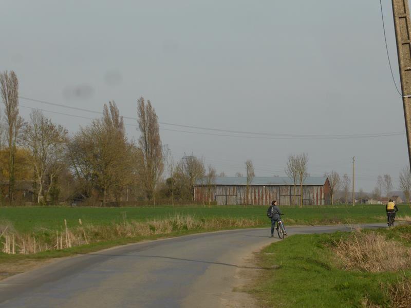 A vélo le long de la Lys