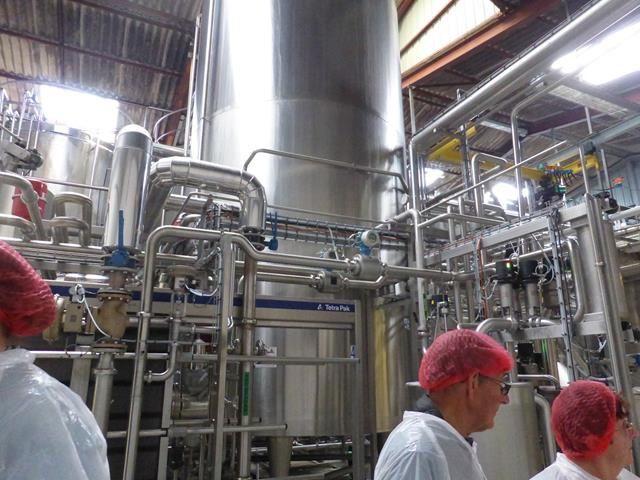 Visite de la laiterie Coralis de Cesson Sévigné