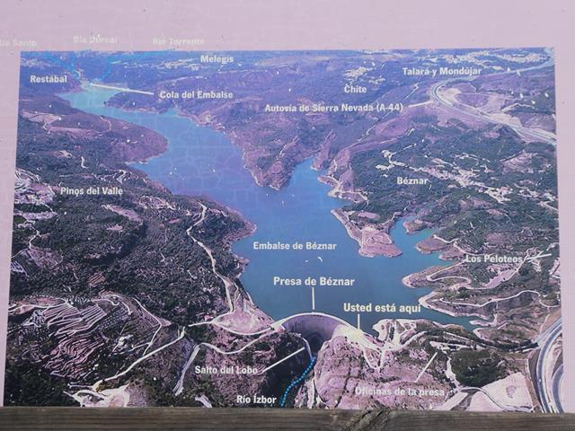 Lanjaron et barrage de Beznar