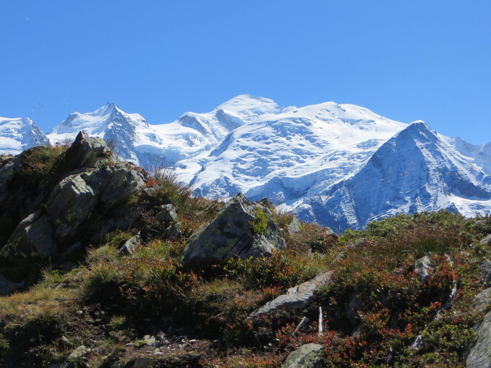 Le Mont Blanc depuis le plateau de Carlaveyron