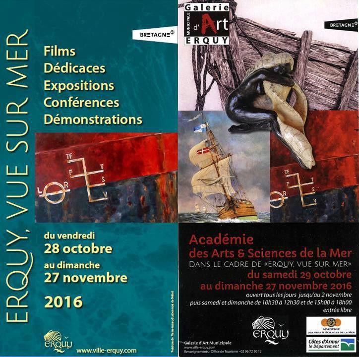 """""""Erquy vue sur mer"""" : exposition de peintures, sculptures et photographies marines du 29 octobre au 27 novembre 2016"""