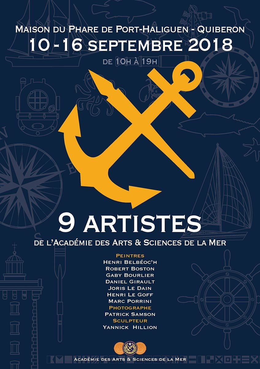 Des artistes de l'Académie des Arts et Sciences de la mer exposent à la maison du phare de Port Haliguen à Quiberon du 10 au 16 septembre 2018