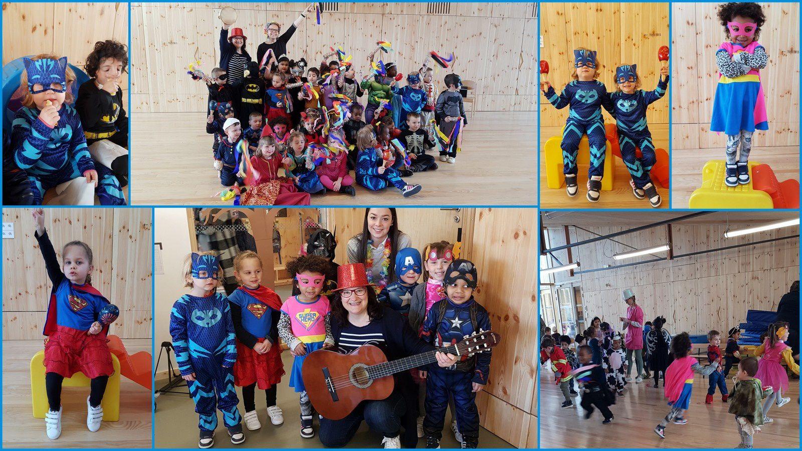 Les enfants de Petite Section et Moyenne Section du CEJS au Val de Scarpe : des activités communes avec les enfants entendants