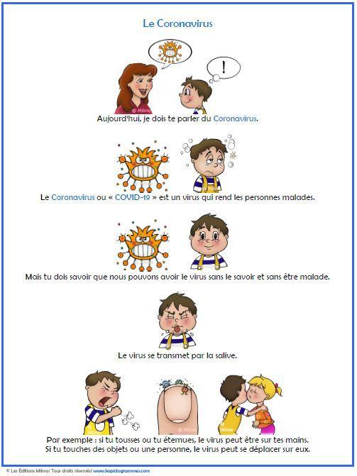 Pour vous aider à expliquer le Coronavirus à vos enfants