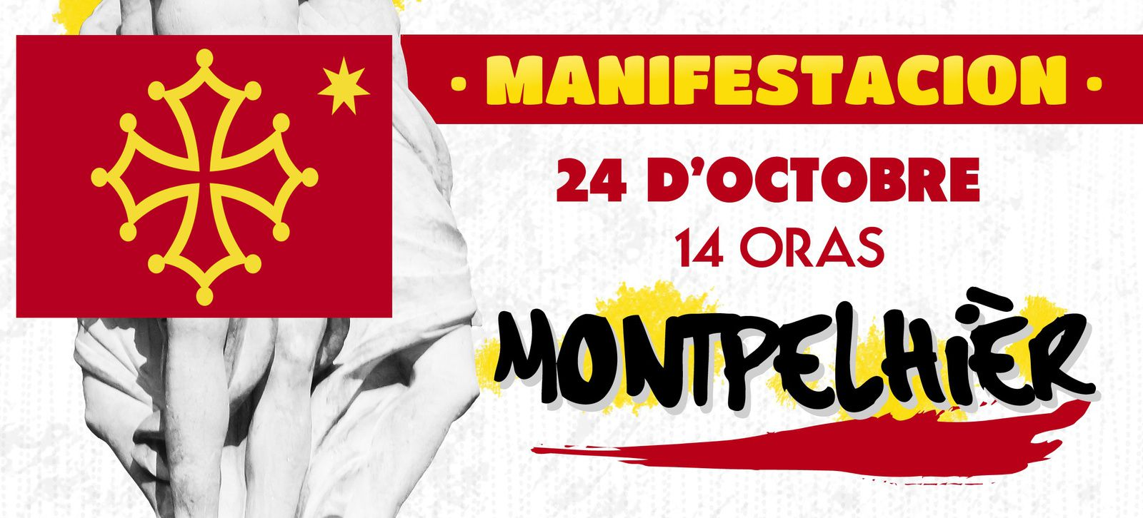 Langue occitane, Montpellier, manifestation le 24 octobre.