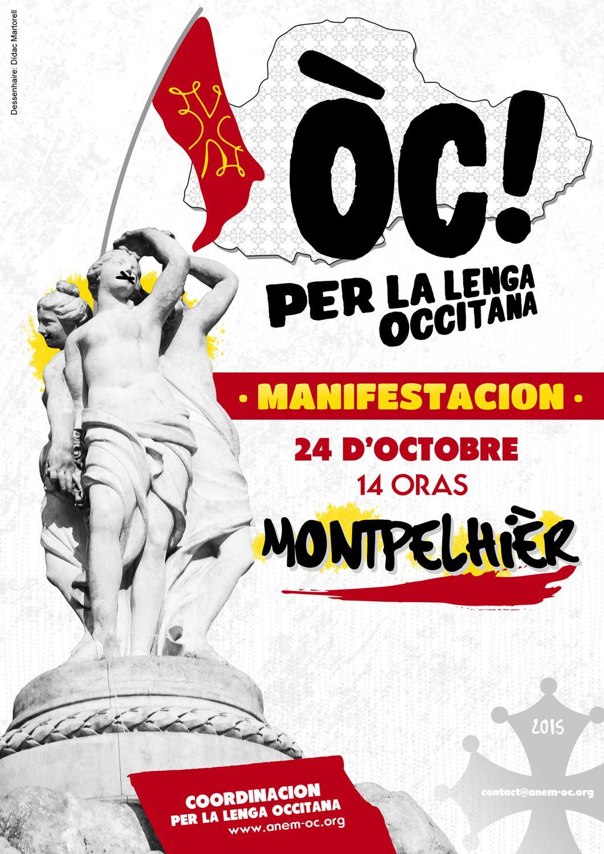 Manifestion occitane à Montpellier.