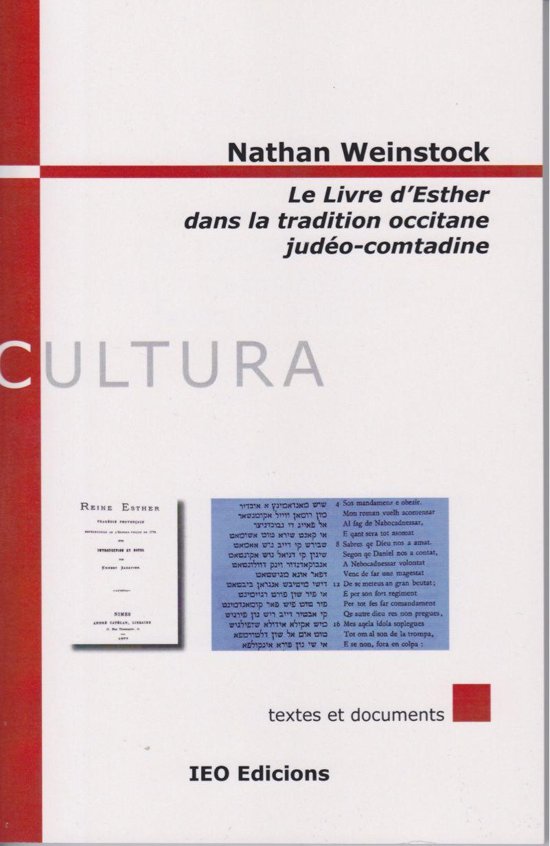 « Le livre d'Esther dans la tradition occitane judéo-comtadine » de Nathan Weinstock