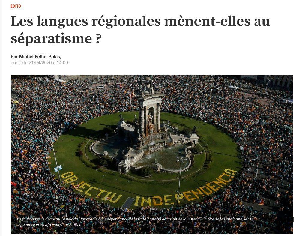 Michel Feltin-Palas : Les langues régionales mènent-elles au séparatisme ?