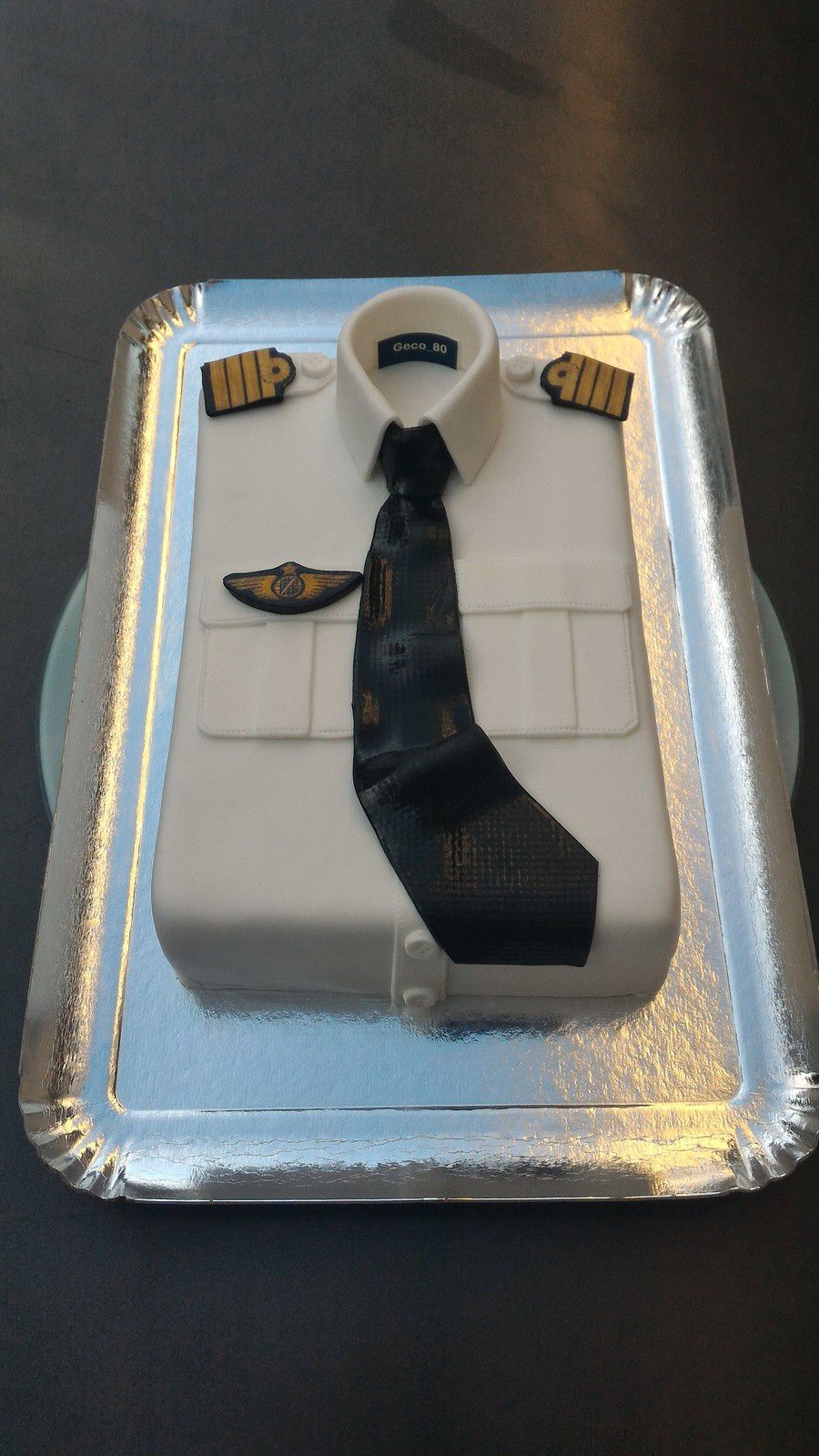 GATEAU CHEMISE DE PILOTE AIR FRANCE