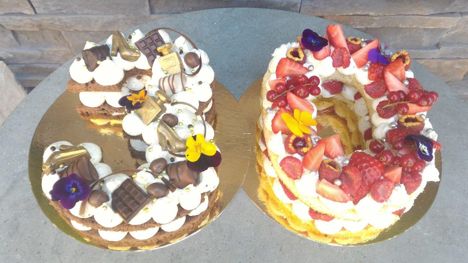 NUMBER CAKE - CHOCOLAT - FRUITS ROUGES