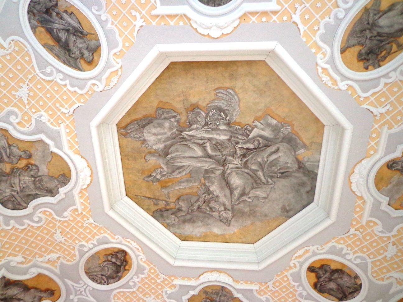 Fresques de Giovanni Domenico Tiepolo, du Palais Volpato-Panigai, 1754