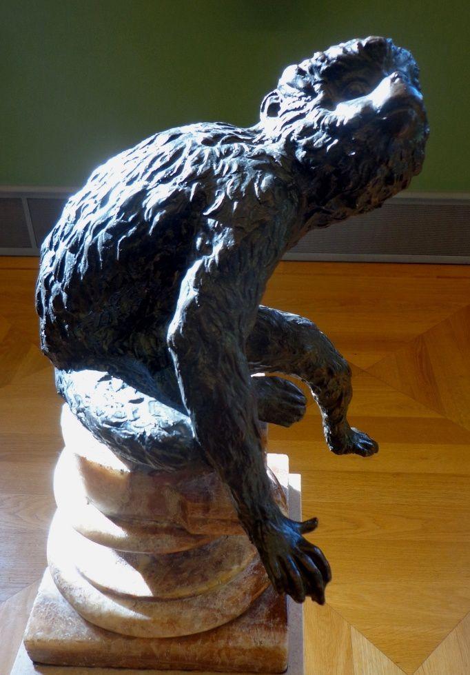 Singe assis - Tirage d'un bronze original de Giambologna, 16e siècle