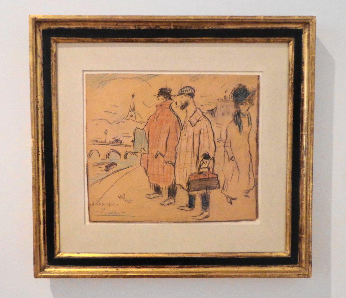 Picasso arrivant à Paris - Pablo Picasso, 1901